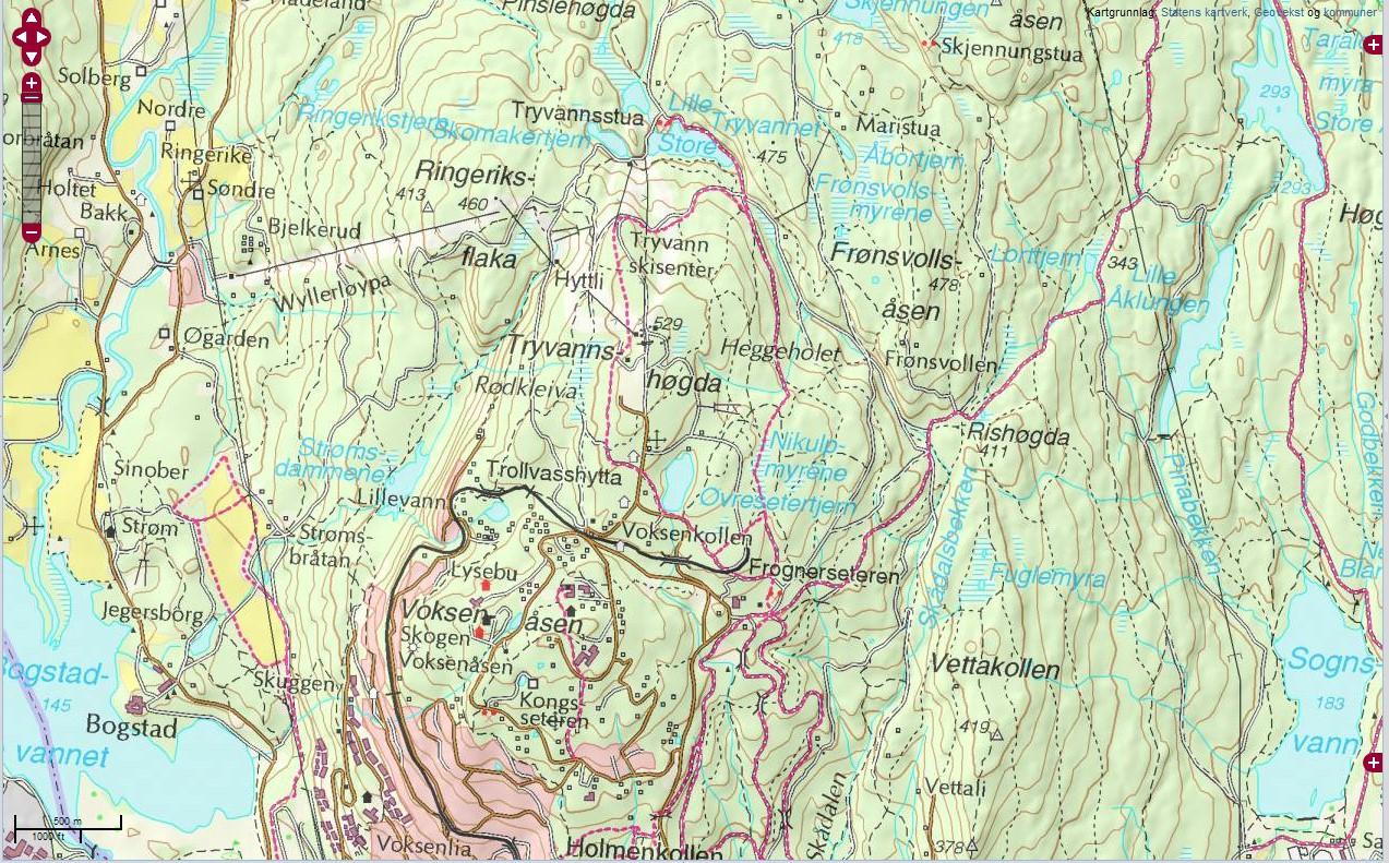 kart over holmenkollen Kart apps   kart over holmenkollen